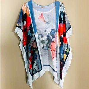 Anthropologie Blank London Watercolor Kimono